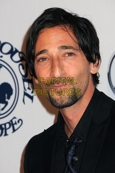 ADRIEN BRODY .32nd Anniversay Carousel of Hope Gala held at the Beverly Hilton Hotel, Beverly Hills, California, USA, .23rd October 2010..portrait headshot black tie shirt beard facial hair .CAP/ADM/BP.©Byron Purvis/AdMedia/Capital Pictures.