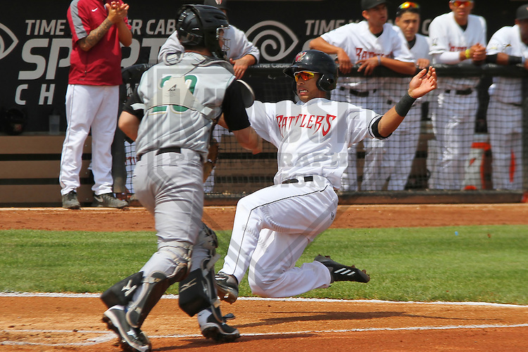 GRAND CHUTE - May 2014: Chris McFarland of the Wisconsin Timber Rattlers during a game against the Kane County Cougars on May 20th, 2014 at Fox Cities Stadium in Grand Chute, Wisconsin.  (Photo Credit: Brad Krause)