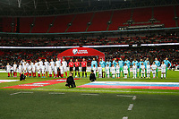 The teams line up for the National Anthems before the FIFA World Cup 2018 Qualifying Group F match between England and Slovenia at Wembley Stadium on October 5th 2017 in London, England. Equipe<br /> Calcio Inghilterra - Slovenia Qualificazioni Mondiali <br /> Foto Phcimages/Panoramic/insidefoto