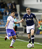 Aiden O'Brien of Millwall in action during the Sky Bet Championship match between Millwall and Birmingham City at The Den, London, England on 21 October 2017. Photo by Carlton Myrie.