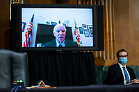 United States Senator Ben Cardin (Democrat of Maryland), speaks virtually during a US Senate Environment and Public Works Committee hearing with Andrew Wheeler, administrator of the Environmental Protection Agency (EPA), not pictured, on Capitol Hill in Washington, D.C., U.S., on Wednesday, May 20, 2020. <br /> Credit: Al Drago / Pool via CNP/AdMedia