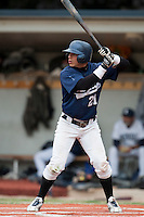 03 october 2009: Yann Dal Zotto of Savigny is seen at bat during game 1 of the 2009 French Elite Finals won 6-5 by Rouen over Savigny in the 11th inning, at Stade Pierre Rolland stadium in Rouen, France.