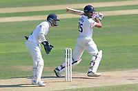 Ravi Bopara in batting action for Essex as Tim Ambrose looks on from behind the stumps during Essex CCC vs Warwickshire CCC, Specsavers County Championship Division 1 Cricket at The Cloudfm County Ground on 19th June 2017
