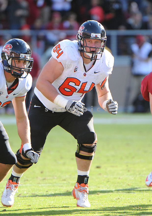 Oregon State Beavers Colin Kelly (64) in action during a game against Stanford on November 10, 2012 at Stanford Stadium in Stanford, CA. Stanford beat Oregon State 27-23.