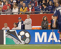 New England Revolution head coach Steve Nicol looks on during the second half.The  New England Revolution defeated the Colorado Rapids, 1-0, at Gillette Stadium in Foxboro, MA on September 29, 2007.