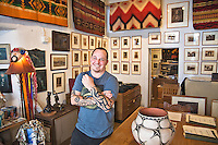 Zack Cox and his family own the Rainbow Man gift show at 109 East Palace Avenue which was the Santa Fe location of the office of J. Robert Oppenheimer during the Manhattan Project.