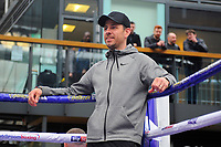 Darren Barker during a Public Workout at Old Spitalfields Market on 12th April 2019