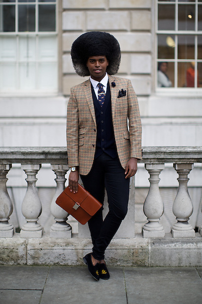 Prince Cassius at London Fashion Week