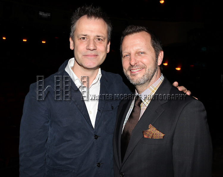 Michael Grandage & Rob Ashford.attending the Broadway Opening Night Actors' Equity Gypsy Robe Ceremony for recipient Matt Wall in 'EVITA' at the Marquis Theatre in New York City on 4/5/2012 © Walter McBride/WM Photography