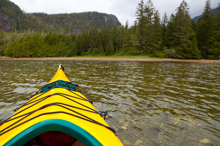 Eagle Nook Wilderness Resort and Spa is located on a remote area of Vancouver Island.   Ocean kayaking is one of the many activities that guests can enjoy while staying at the resort.  The resort is surrounded by two protected coves.