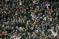 College Park, MD - October 22, 2016: Michigan State Spartans fans during game between Michigan St. and Maryland at  Capital One Field at Maryland Stadium in College Park, MD.  (Photo by Elliott Brown/Media Images International)