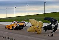 May 21, 2016; Topeka, KS, USA; NHRA funny car driver Del Worsham during qualifying for the Kansas Nationals at Heartland Park Topeka. Mandatory Credit: Mark J. Rebilas-USA TODAY Sports