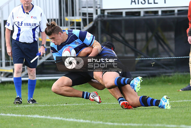 NELSON, NEW ZEALAND - MAY 21: Nelson College v CBHS Trafalgar Park on May 21 2016 in Nelson, New Zealand. (Photo by: Evan Barnes Shuttersport Limited)