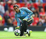 Claudio Bravo of Manchester City warms up during the Premier League match at Old Trafford Stadium, Manchester. Picture date: September 10th, 2016. Pic Simon Bellis/Sportimage
