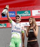 John Degenkolb celebrates his fourth victory of stage during La Vuelta 2012 in the the stage between Ponteareas and Sanxenxo.August 28,2012. (ALTERPHOTOS/Acero) /NortePhoto.com<br /> <br /> **CREDITO*OBLIGATORIO** <br /> *No*Venta*A*Terceros*<br /> *No*Sale*So*third*<br /> *** No*Se*Permite*Hacer*Archivo**<br /> *No*Sale*So*third*