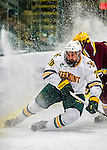24 November 2012: University of Vermont Catamount defenseman Caylen Walls, a Freshman from Lyalta, Alberta, in first period action against the University of Minnesota Golden Gophers at Gutterson Fieldhouse in Burlington, Vermont. The Catamounts fell to the Gophers 3-1 in the second game of their 2-game non-divisional weekend series. Mandatory Credit: Ed Wolfstein Photo