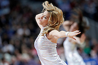 Real Madrid's cheerleaders during Euroleague 2012/2013 match.January 31,2013. (ALTERPHOTOS/Acero)