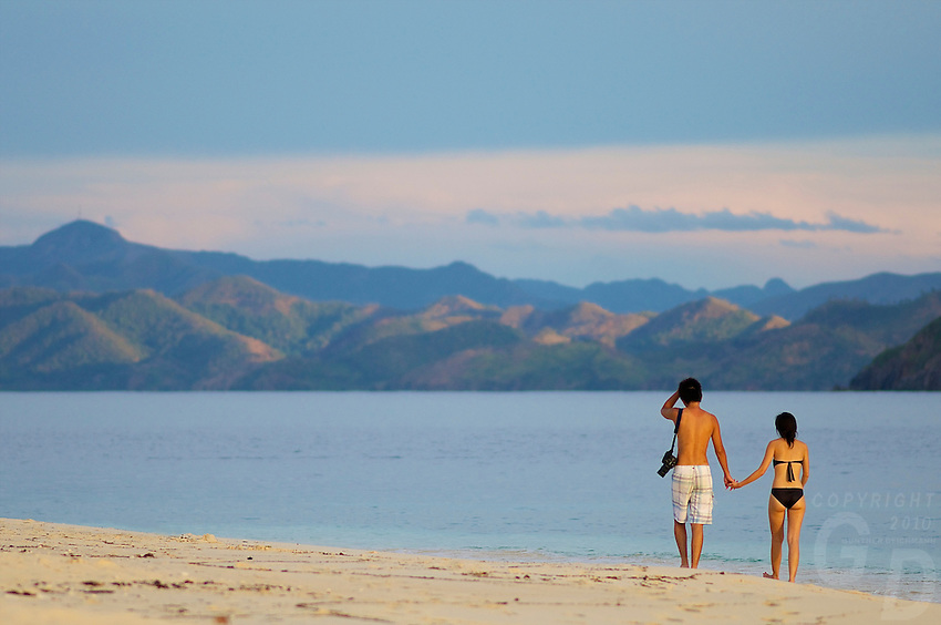 Young attractive and Happy couple on Vacation Palawan