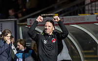Player Manager Kevin Nolan of Leyton Orient celebrates a win on his first game in charge during the Sky Bet League 2 match between Wycombe Wanderers and Leyton Orient at Adams Park, High Wycombe, England on 23 January 2016. Photo by Massimo Martino / PRiME Media Images.