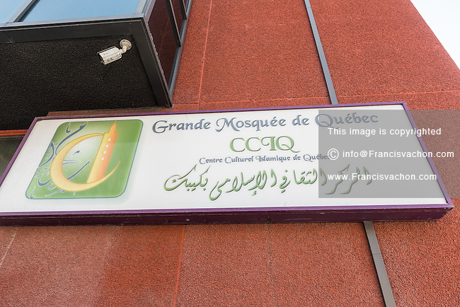 Grande Mosquée de Quebec (Centre Culturel Islamique de Quebec) is seen Thursday February 2, 2017. Sunday January 29, a shooter left six worshippers dead at this Quebec city mosque.