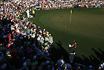 AUGUSTA, GA - APRIL 10:  hits onto the green during the 2010 Masters Tournament held in Augusta, Georgia at Augusta National Golf Club on April 10, 2010. (Photo by Donald Miralle)..