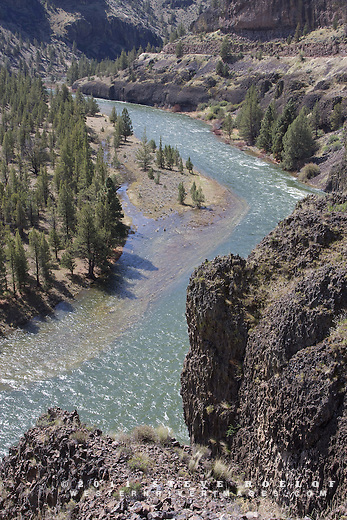 Rugged cliffs above the Crooked River, Oregon.