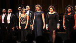 Amber Riley & cast during the Curtain Call for Encores! 'Cotton Club Parade' at City Center in New York City on 11/17/2012