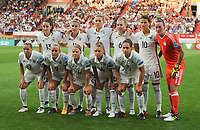 20170721 - TILBURG , NETHERLANDS : German team  pictured during the female soccer game between Germany and Italy  , the second game in group B at the Women's Euro 2017 , European Championship in The Netherlands 2017 , Friday 21 th June 2017 at Stadion Koning Willem II  in Tilburg , The Netherlands PHOTO SPORTPIX.BE | DIRK VUYLSTEKE