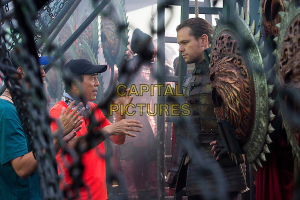 The Great Wall (2016)<br /> Yimou Zhang (Director), Matt Damon<br /> *Filmstill - Editorial Use Only*<br /> CAP/FB<br /> Image supplied by Capital Pictures