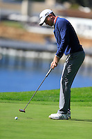 Martin Laird (SCO) putts on the 5th green at Pebble Beach Golf Links during Saturday's Round 3 of the 2017 AT&amp;T Pebble Beach Pro-Am held over 3 courses, Pebble Beach, Spyglass Hill and Monterey Penninsula Country Club, Monterey, California, USA. 11th February 2017.<br /> Picture: Eoin Clarke | Golffile<br /> <br /> <br /> All photos usage must carry mandatory copyright credit (&copy; Golffile | Eoin Clarke)
