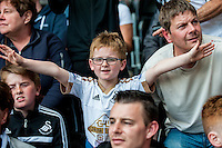 Swansea Fans prior to the Barclays Premier League match between Swansea City and Manchester City played at the Liberty Stadium, Swansea on the 15th of May  2016