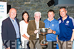 tom Tobin, Don O'Donoghue, Donagh Gleeson and Michael O'Shea at the Killarney Athletic Seven a side 40th anniversary awards night in McSorleys niteclub on Friday night