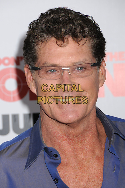 """DAVID HASSELHOFF.""""You Don't Mess With The Zohan"""" LA Premiere at Grauman's Chinese Theatre, Hollywood, California, USA..May 28th, 2008.headshot portrait glasses .CAP/ADM/BP.©Byron Purvis/AdMedia/Capital Pictures."""
