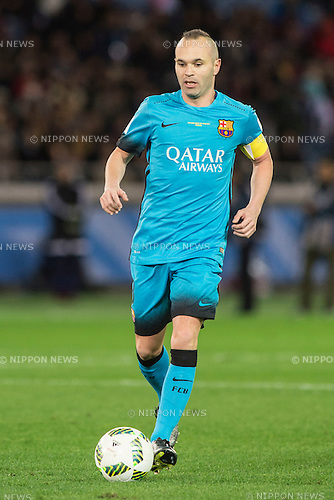 Andres Iniesta (Barcelona), DECEMBER 17, 2015 - Football / Soccer : FIFA Club World Cup Japan 2015 semi-final match between FC Barcelona 3-0 Guangzhou Evergrande at Yokohama International Stadium, Kanagawa, Japan. (Photo by Enrico Calderoni/AFLO)