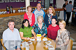 Kerry Hospice held a coffee morning at Siamsa Tíre,Tralee last Tuesday attended by(seated)L-R Jim McDonnell,Pili O'Shea,Mairead Fernane(Kerry hospice)Ciara O'Donoghue(Siamsa Tíre)&Tracy Wallace(back)L-R Catherine&Mike Dolan with Martina Canty.