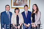 Paudie, Patsy, David and Fiona Dineen Rathmore at the Kerry Sports Star awards in the Malton Hotel on Friday night