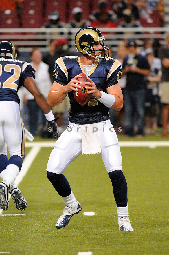 AJ FEELEY, of the St. Louis Rams ,in action during the Rams  game against the  Minnesota Vikings at Edward Jones Dome in St. Louis Missouri on August14, 2010.  The Vikings won the game 28-17..