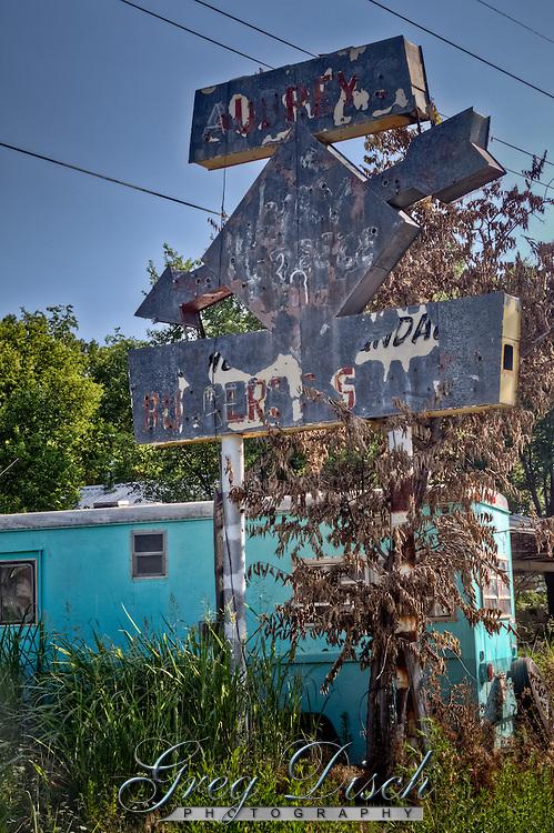 Old resturant sign in Shamrock texas.