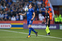 Ben Chilwell of Leicester City during the Carabao Cup match between Sheffield United and Leicester City at Bramall Lane, Sheffield, England on 22 August 2017. Photo by James Williamson / PRiME Media Images.