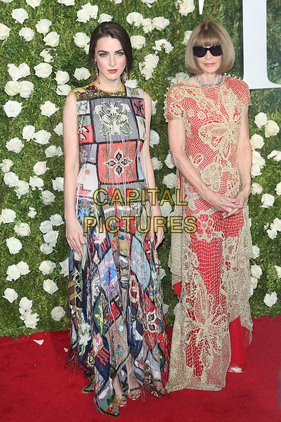 NEW YORK, NY - JUNE 11: Bee Shaffer and Anna Wintour at the 2017 Tony Awards at Radio City Music Hall on June 11, 2017 in New York City. <br /> CAP/MPI99<br /> &copy;MPI99/Capital Pictures
