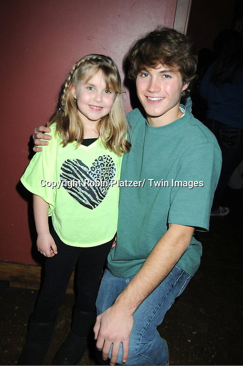 Stephanie Schmahl and Andrew Trischitta attends The One Life To Live Benefit for The Amber Roach Memorial Garden on January 7, 2012 at Brother .Jimmy's BBQ Union Square Restaurant in New York City.
