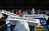 Leicester City's Fan pays there respect to Vichai Srivaddhanaprabha<br /> <br /> <br /> Photographer Rachel Holborn/CameraSport<br /> <br /> The Premier League - Saturday 10th November 2018 - Leicester City v Burnley - King Power Stadium - Leicester<br /> <br /> World Copyright &copy; 2018 CameraSport. All rights reserved. 43 Linden Ave. Countesthorpe. Leicester. England. LE8 5PG - Tel: +44 (0) 116 277 4147 - admin@camerasport.com - www.camerasport.com