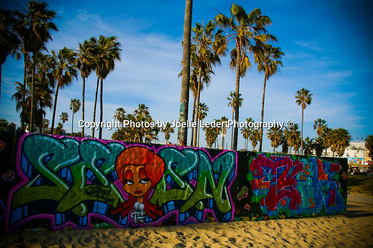 Venice Beach, Graffiti, Graffiti Beach Street Art, Beach, California,