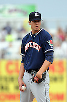 Connecticut Tigers pitcher Tim Kelley (19) during game against the Brooklyn Cyclones at MCU Park on August 03, 2012 in Brooklyn, NY.  Brooklyn defeated Connecticut 3-0.  Tomasso DeRosa/Four Seam Images
