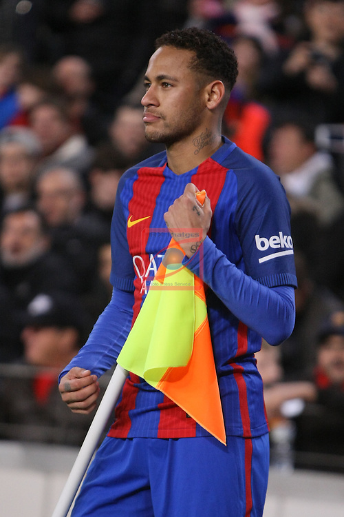 League Santander 2016/2017. Game: 16.<br /> FC Barcelona vs RCD Espanyol: 4-1.<br /> Neymar Jr.