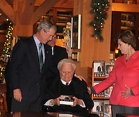 George W. Bush Billy Graham At Library By Jonathan Green