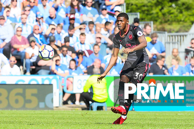 Ainsley Maitland-Niles of Arsenal during the Premier League match between Huddersfield Town and Arsenal at the John Smith's Stadium, Huddersfield, England on 13 May 2018. Photo by Thomas Gadd / PRiME Media Images.
