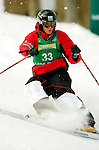 15 January 2005 - Lake Placid, New York, USA - Claudio Bosia representing Italy, competes in the FIS World Cup Men's Moguls Freestyle ski competition, ranking 43rd for the day, at Whiteface Mountain, Lake Placid, NY. ..Mandatory Credit: Ed Wolfstein Photo.