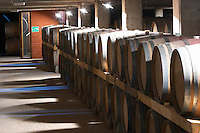 Oak barrel aging and fermentation cellar. Boutari Wineries, Steinmachos, Naoussa, Macedonia, Greece