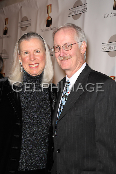 GALE MUSKER, JOHN MUSKER. Red Carpet arrivals to the 37th Annual Annie Awards Gala at Royce Hall on the UCLA campus. Los Angeles, CA, USA. February 6, 2010.